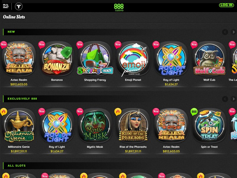 Review Of 888 Casino Games And Bonuses